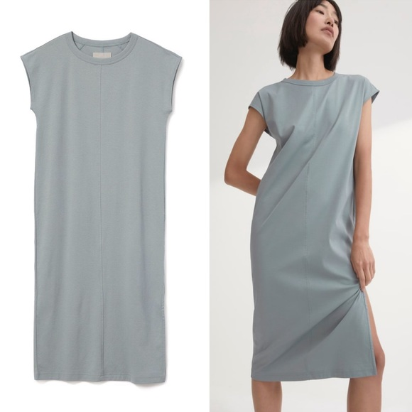 fc15b3118e799a Everlane Dresses & Skirts - EVERLANE • the luxe cotton side slit tee dress l